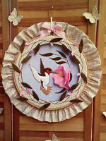 "Hummingbirds Shadowbox Hoop 14"" Hanging Sewing Pattern Country Feeling 1984"