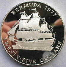 Bermuda 1977 Sailing Ship 25 Dollars 1.62oz Silver Coin,Proof