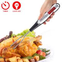 Termometro digitale Alimentare Alimenti da Cucina Sonda con Timer e Luce a LED
