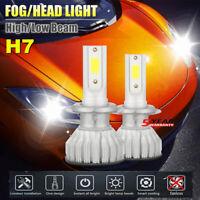2x CREE H7 LED Headlight Bulbs Conversion Kit 2000W 480000LM 6000K Hi/Lo Beam JO