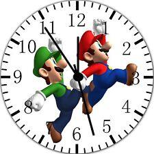Super Mario Luigi Frameless Borderless Wall Clock Nice For Gifts or Decor W323