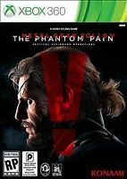 NEW Metal Gear Solid V: The Phantom Pain (Microsoft Xbox 360, 2015)
