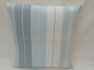 Laura Ashley Designer Cushion Cover SOPHIE STRIPE Duck Egg Fabric Various Sizes