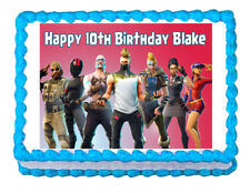 Fortnite party decoration edible cake topper frosting sheet*****