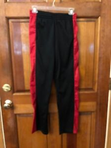BOYS JORDAN THERMA-FIT BLACK AND RED PANTS SIZE  L 12 - 13 YRS