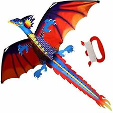 Large Dragon Tail Kite Kids Adult Beach Park Outdoor Easy Fly 3D Animal Rainbow