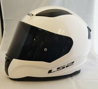 LS2 FF353 RAPID FULL FACE MOTORCYCLE HELMET WHITE WITH DARK TINTED VISOR