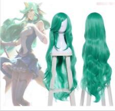 """League of Legends LOL Soraka Star Guardian 40"""" Long Wavy Green Cosplay Full Wigs"""