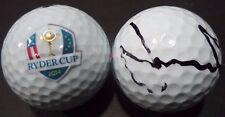JAMIE DONALDSON PGA STAR SIGNED AUTOGRAPHED 2014 RYDER CUP LOGO GOLF BALL COA A