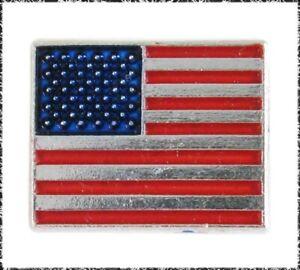 Vintage Aluminum American Flag Button, Realistic