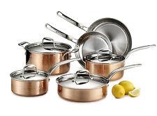 Lagostina Martellata 10 Piece Copper Cookware Set