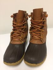 "LL Bean Original Leather/Rubber 7"" Duck Boots Womens Size 6 M USA Made"
