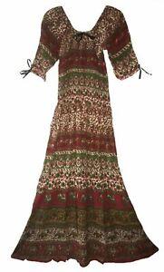 Indian Dress Rayon Retro Blusa Ethnic Boho Vestir Ehs Hippy Vintage Retro Women