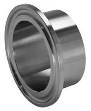 "Sanitary Weld On Ferrule, 6"" Tri Clamp/Tri Clover Fitting, Stainless Steel 304"
