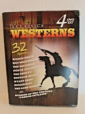 TV Classic Westerns (DVD, 1999, 4-Disc Set) 32 Episodes Western Cowboy TV Shows