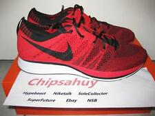 Nike Flyknit Trainer Red Black Racer Zoom Air Woven Olympic Shoe DS Size 8