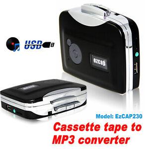 EzCap230 Cassette Tape to MP3 Converter Portable Capture Audio Music Player UK