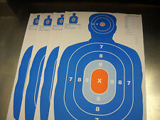 "100 pk Blue/Orange Silhouette hand gun rifle paper shooting targets 12"" X 18"""