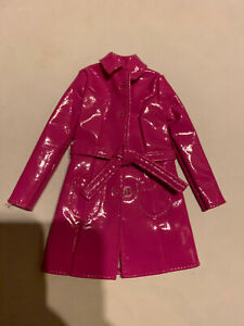 """Clothes BARBIE My Scene clothing accessory for 12"""" inch doll pink vinyl pvc coat"""