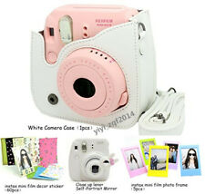 NEW Fujifilm Instax Mini 8 Instant Camera Accessory Bundles Set White Color