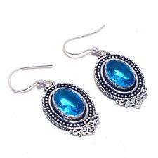 Handmade Earring Be-1439 Blue Topaz Ethnic Jewelry