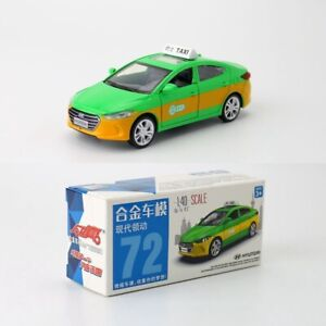 Hyundai Elantra 1:40 Scale Diecast Alloy Metal Model Collect Car Taxi Green Toy