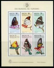 Macau: 1985 Butterflies Mini-Sheet (517a) MNH