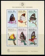 Macau: 1985 Butterflies Mini-Sheet (517a) MNH - CV $160.00
