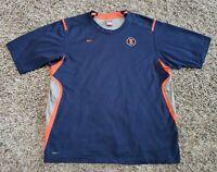 Nike Team FitDry Illinois Tee Shirt Illini Navy Orange Block Blue Men XL Logo