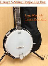 Brand New Caraya BJ-005 5-String Mahogany Resonator Banjo w/Free Gig Bag