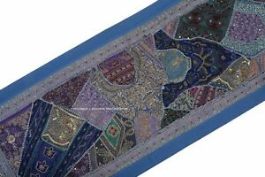 Vintage Handmade Tapestry Embroidered Patchwork Beaded Wall Hanging Banjara Deco