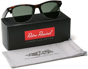 Large Polarized Half Frame Retro Vintage Glasses Men's Sunglasses Big Head OK