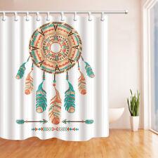 Dreamcatchers Feather Arrow Bathroom Shower Curtain Fabric w/12 Hooks 71*71inch