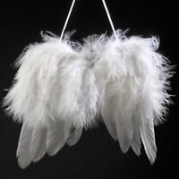 New White Vintage Feather Hanging Angel Wings Christmas Tree Wedding Decorations