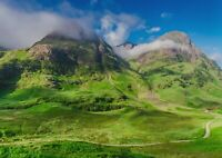 A1 | Glencoe Mountains Poster Art Print 60 x 90cm 180gsm Scotland Gift #12551