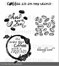Heartfelt Creations Cling Stamp Set THE PERFECT BLEND ~ Coffee Talk  ~ HCPC-3712