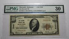 $10 1929 Slocomb Alabama AL National Currency Bank Note Bill Ch. #7940 VF30 PMG!