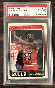 1988 Fleer Michael Jordan #17 PSA 6 Ex-MT Chicago Bulls