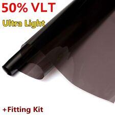 UK 3M X 76CM DARK SMOKE MIRROR 50% CAR HOME OFFICE WINDOW TINT ROLL FILM TINTING