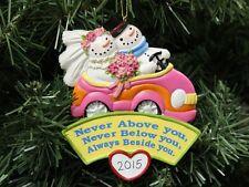 Snowman, Snowwoman, First Christmas Ornament