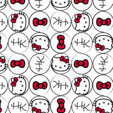 HELLO KITTY RAIN OR SHINE TOSSED ICONS SANRIO COTTON FABRIC BY THE 1//2 YARD
