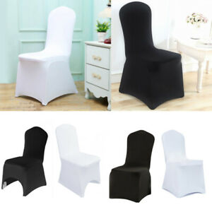 1-100 Spandex Chair Covers Slip SEAT Cover Wedding Dining Room Stretch Removable