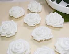 10 Rosen Schaumrosen weiß Hochzeit Gestecke Blüte als Kopfschmuck Foam 7cm