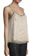 Joie Garlen Beaded Cami Top Size L Champagne Star Top New