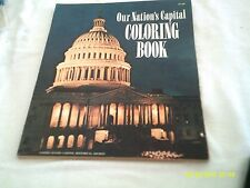 OUR NATION'S CAPITAL COLORING BOOK 1965 VINTAGE BRANDNEW EXCELLENT CONDITION