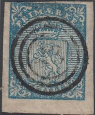 Stamp 1855 Norway 4s blue probably 2nd reprint