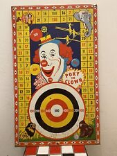 Vintage Circus Poke the Clown shooting game tin sign