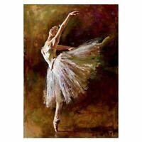 5D DIY Diamond Painting Beauty Ballet Embroidery Cross Stitch Home Decorati N3Q3