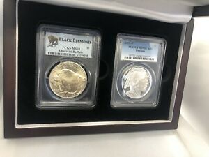 2001-P - Silver American Buffalo Commemorative Dollar - PCGS Proof-69 Deep Cameo
