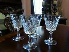 Set of  4 Val St. Lambert ASTRID water glasses 6 5/8 Signed. Vertical criss cros